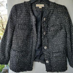 MICHAEL KORS BLACK tweed jacket Size 6
